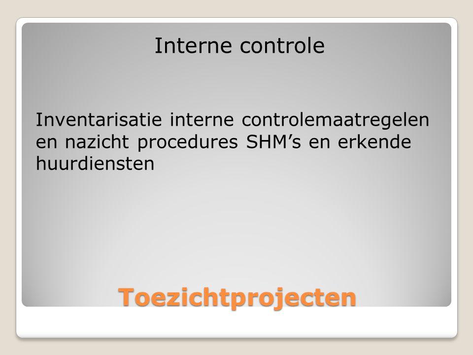 Toezichtprojecten Interne controle