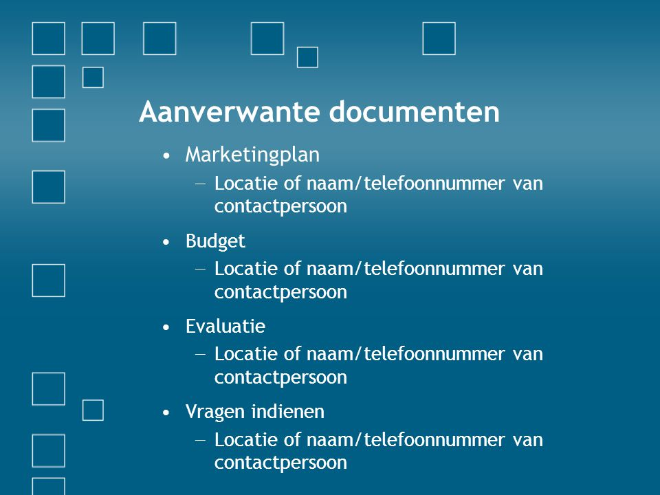 Aanverwante documenten
