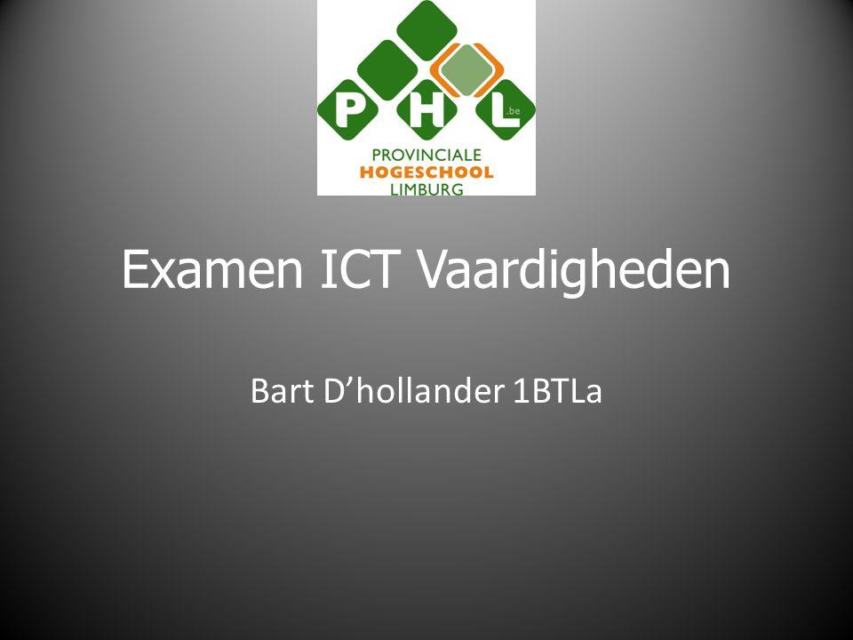 Examen ICT Vaardigheden