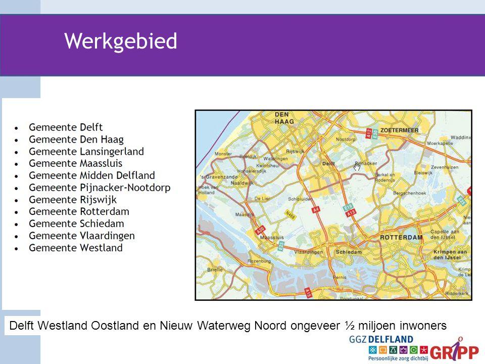 Werkgebied Delft Westland Oostland en Nieuw Waterweg Noord ongeveer ½ miljoen inwoners