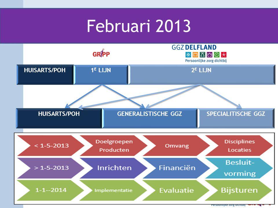 Februari 2013 HUISARTS/POH 1E LIJN 2E LIJN HUISARTS/POH