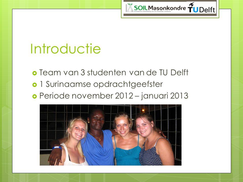 Introductie Team van 3 studenten van de TU Delft