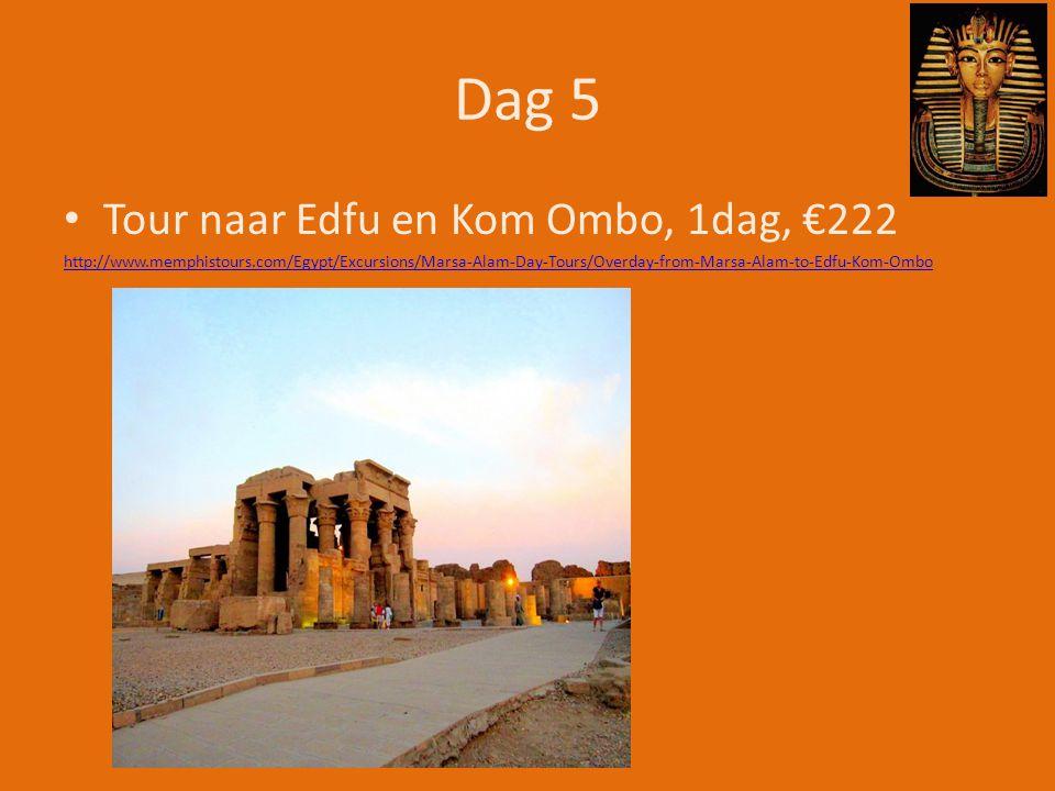 Dag 5 Tour naar Edfu en Kom Ombo, 1dag, €222