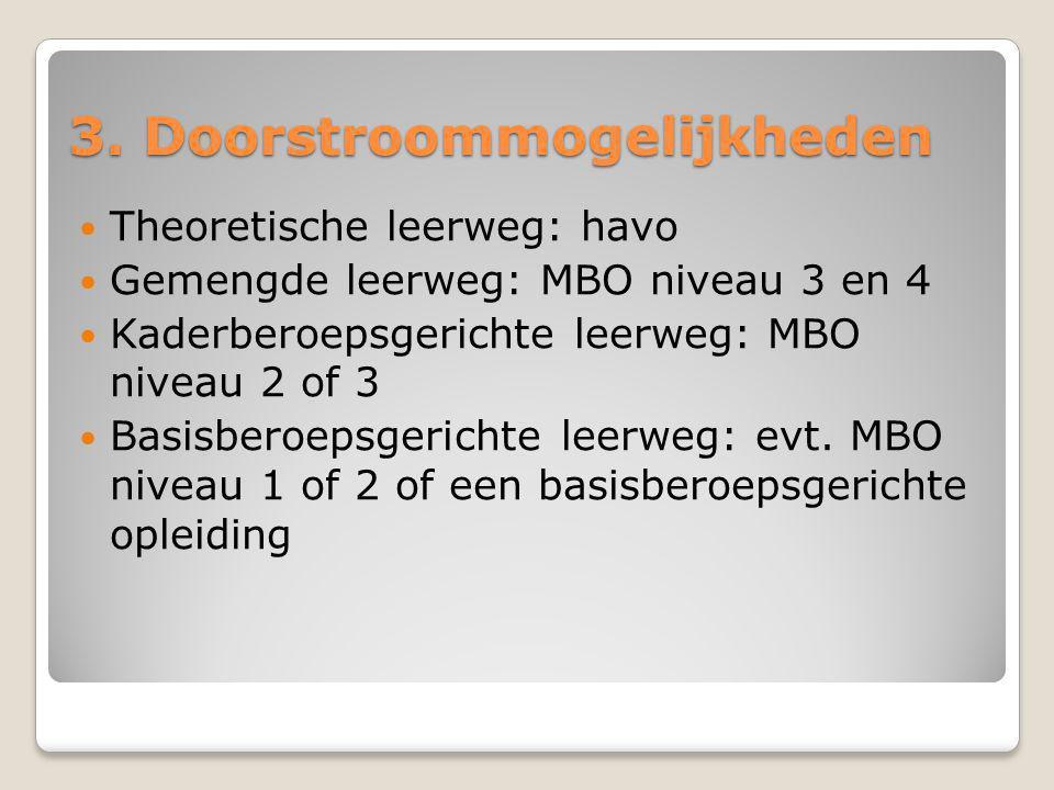 3. Doorstroommogelijkheden