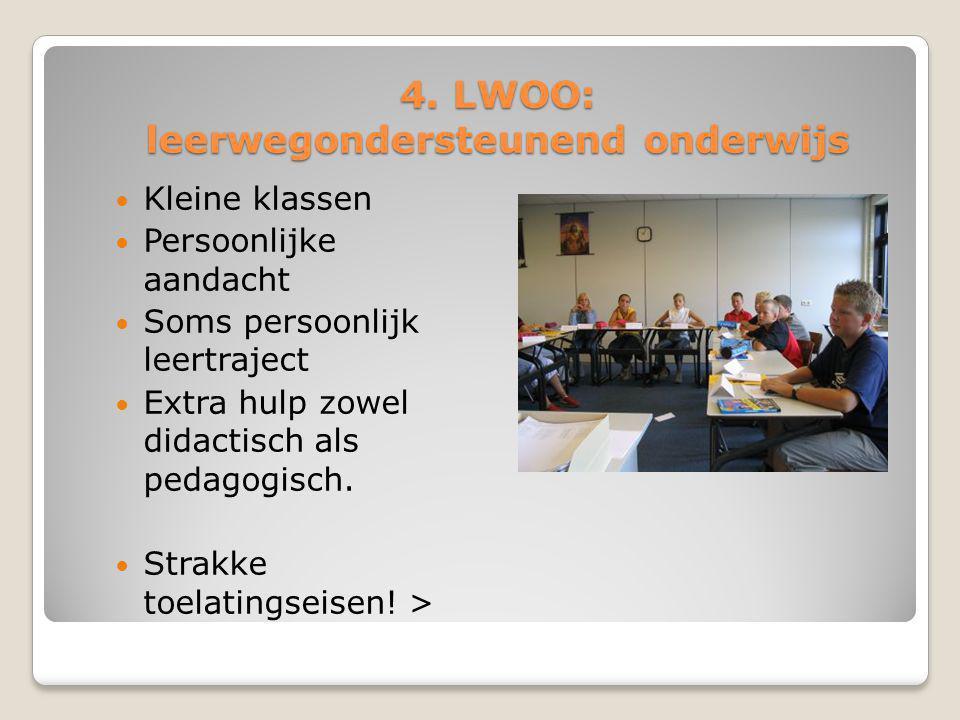 4. LWOO: leerwegondersteunend onderwijs