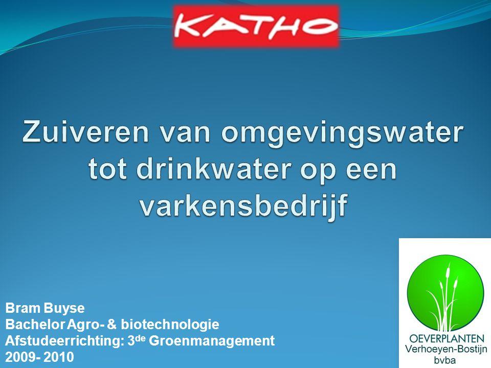 Zuiveren van omgevingswater tot drinkwater op een varkensbedrijf