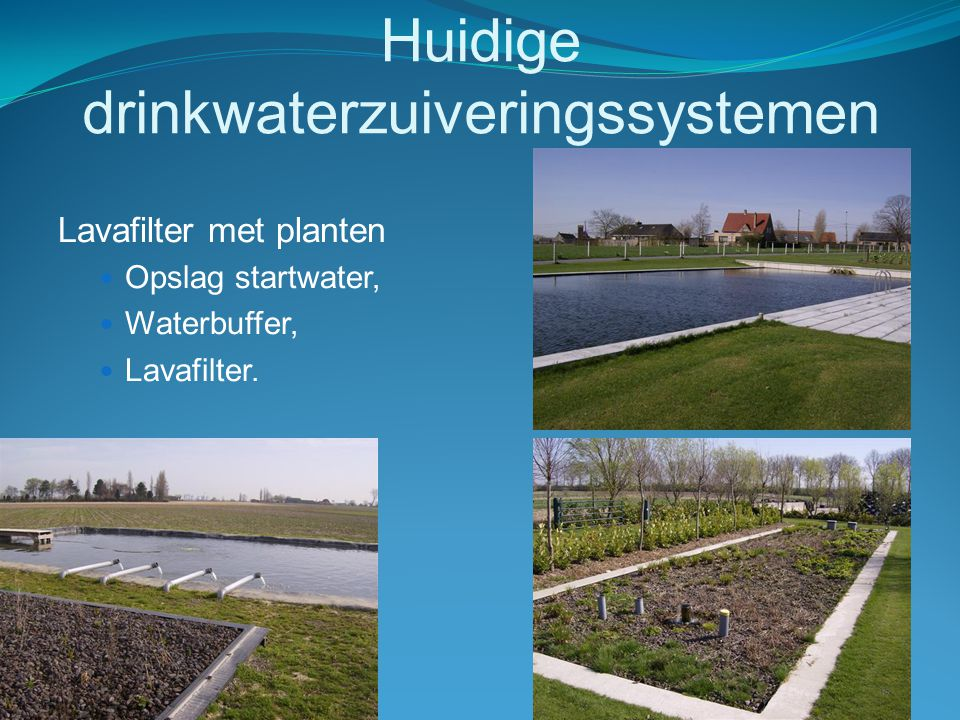 Huidige drinkwaterzuiveringssystemen