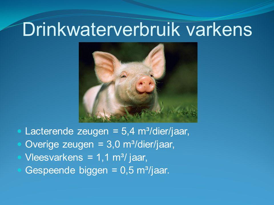 Drinkwaterverbruik varkens