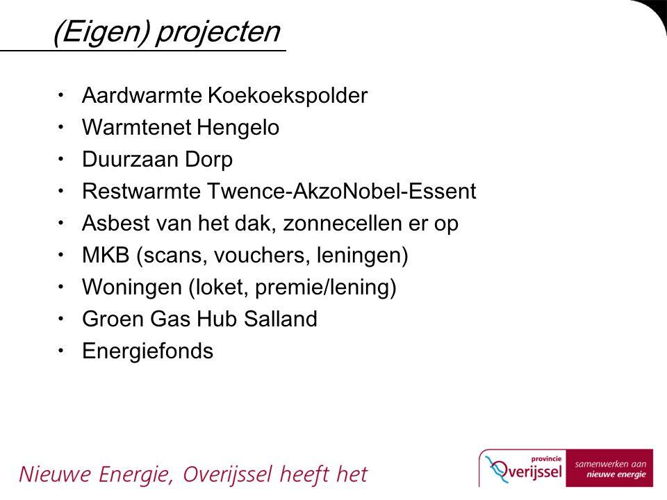 (Eigen) projecten Aardwarmte Koekoekspolder Warmtenet Hengelo