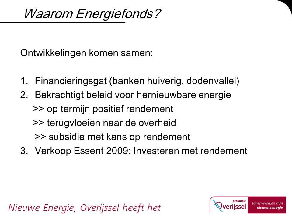 Waarom Energiefonds Ontwikkelingen komen samen: