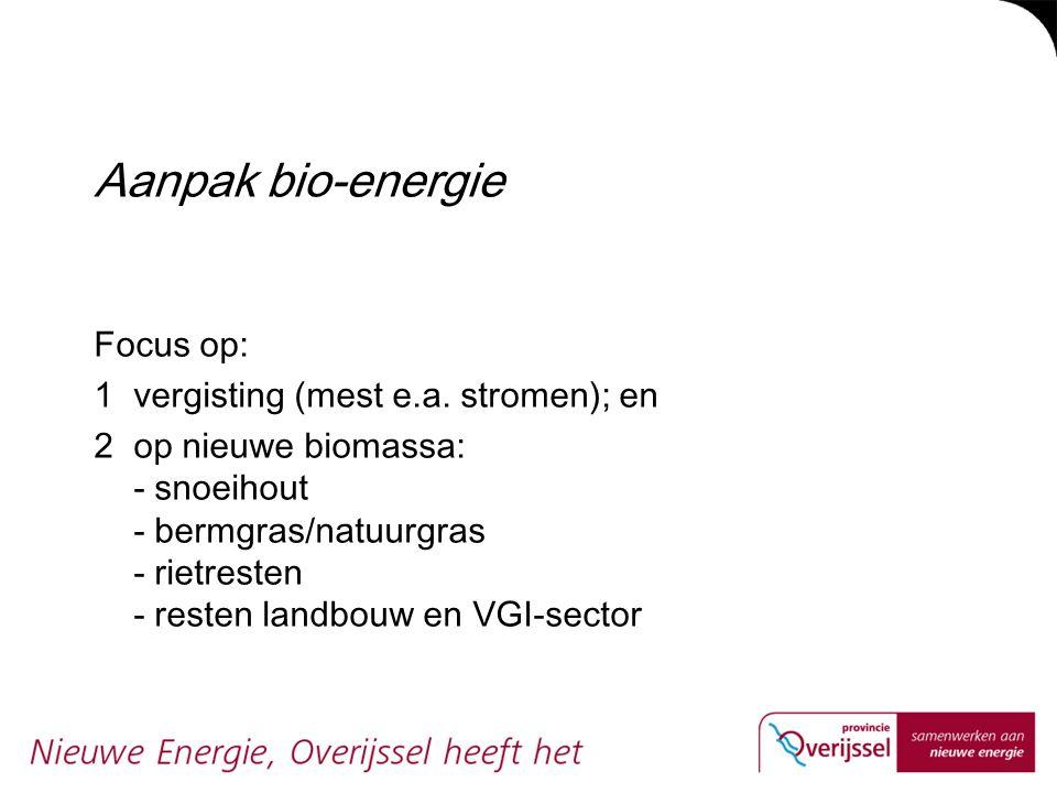 Aanpak bio-energie