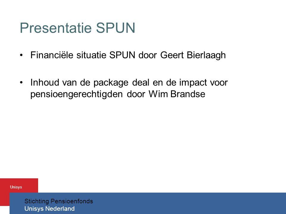 Presentatie SPUN Financiële situatie SPUN door Geert Bierlaagh