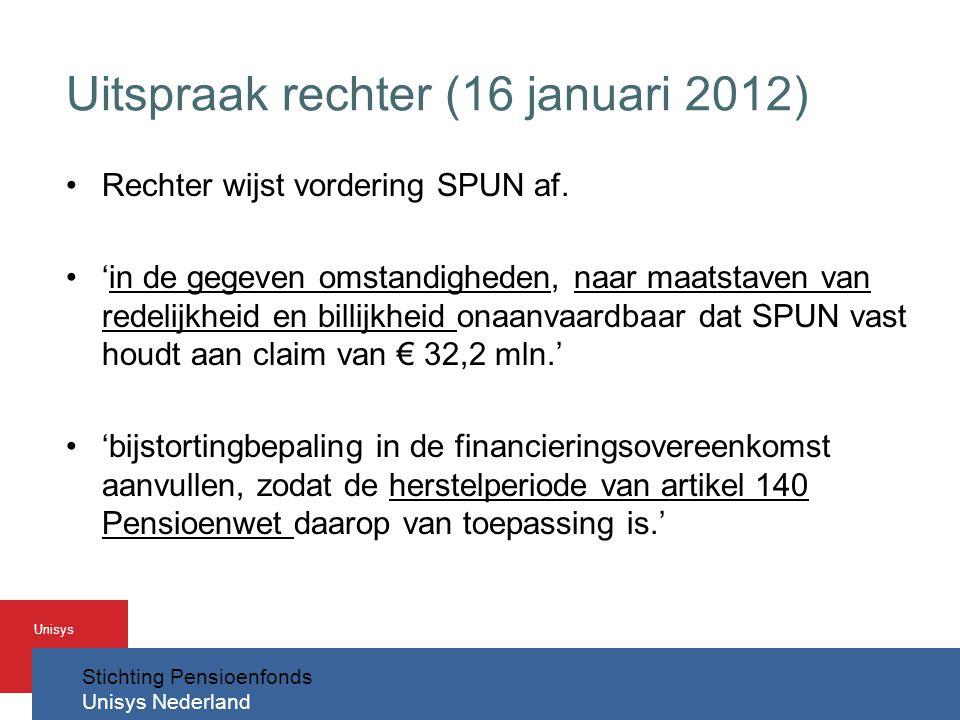 Uitspraak rechter (16 januari 2012)