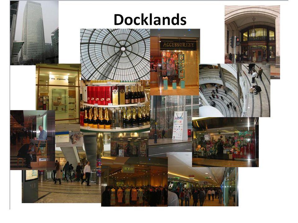 Docklands Plattegrond winkels