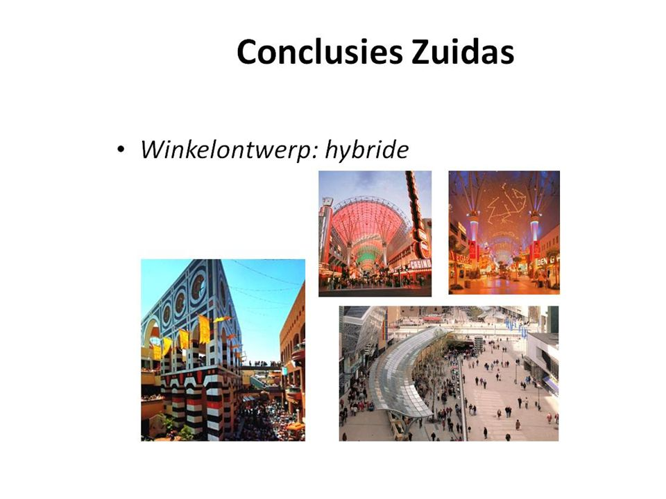 Conclusies Zuidas