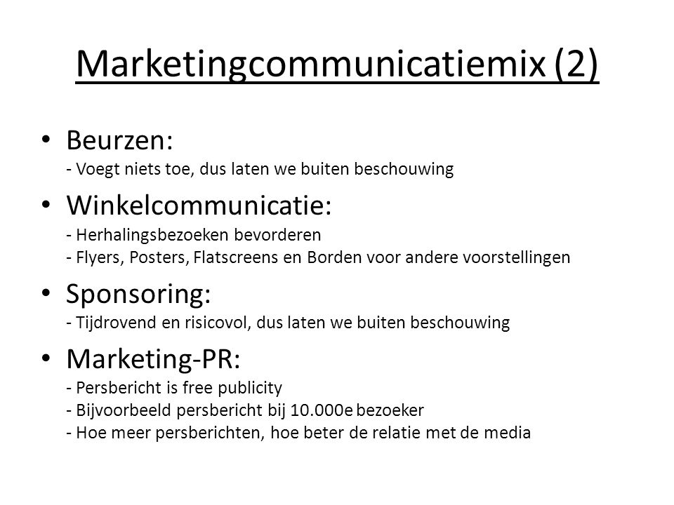 Marketingcommunicatiemix (2)
