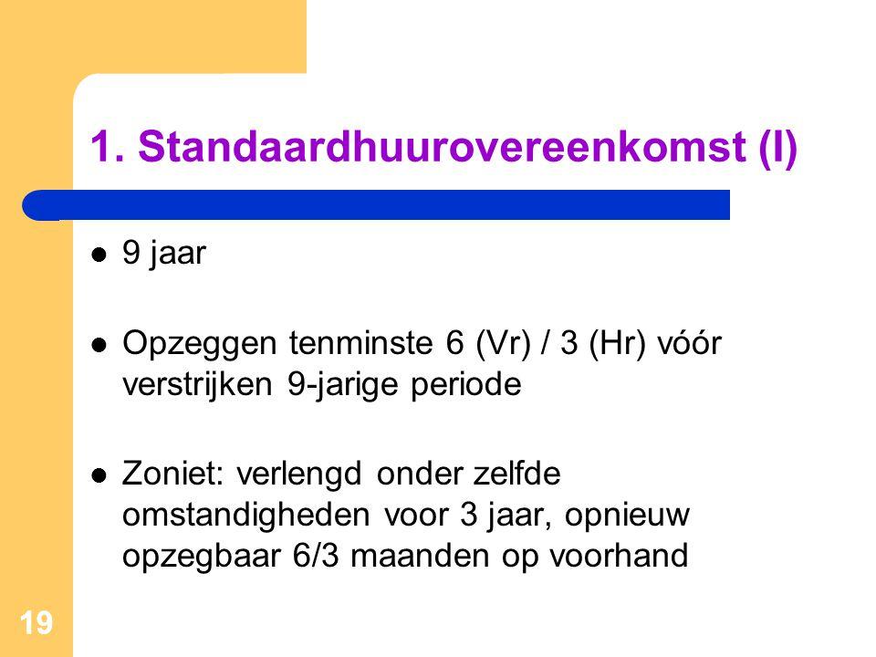 1. Standaardhuurovereenkomst (I)