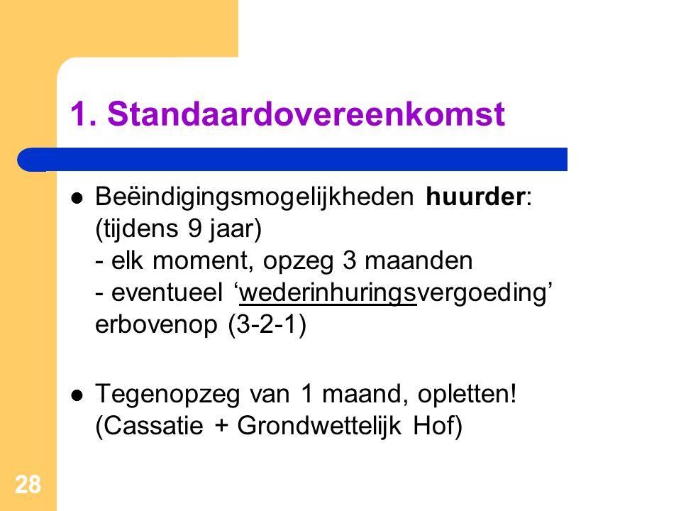 1. Standaardovereenkomst