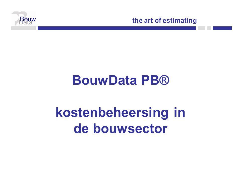 BouwData PB® kostenbeheersing in de bouwsector