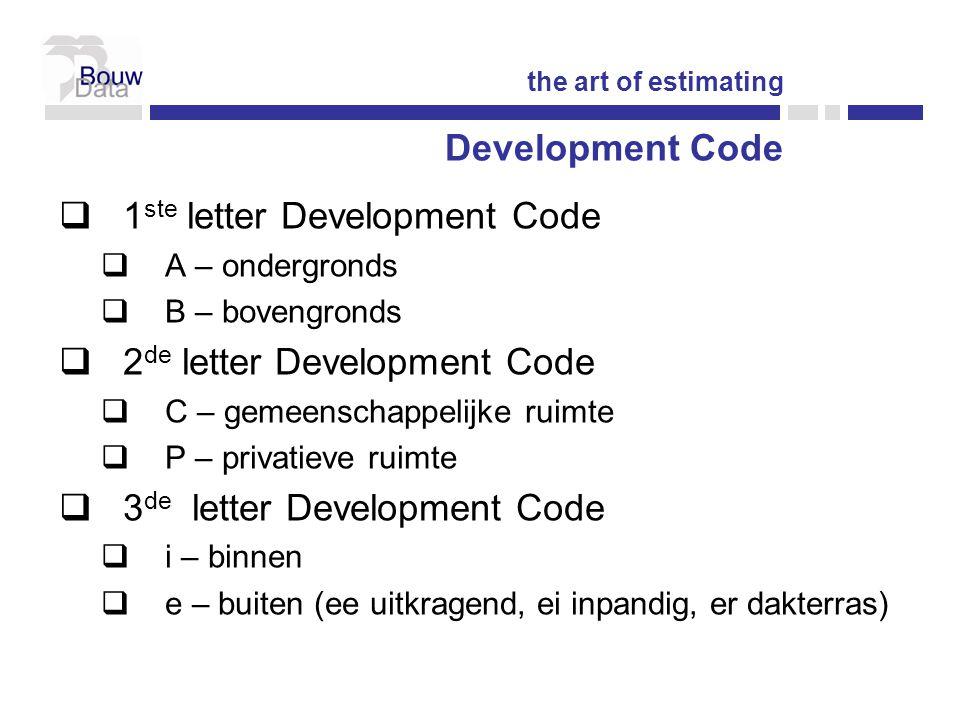 1ste letter Development Code
