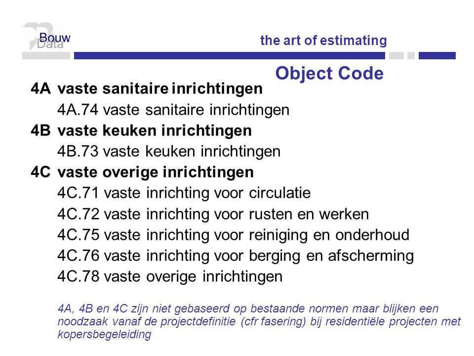 Object Code 4A vaste sanitaire inrichtingen