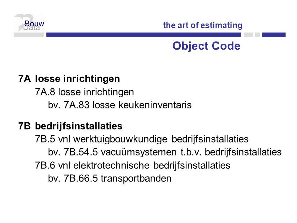 Object Code 7A losse inrichtingen 7A.8 losse inrichtingen