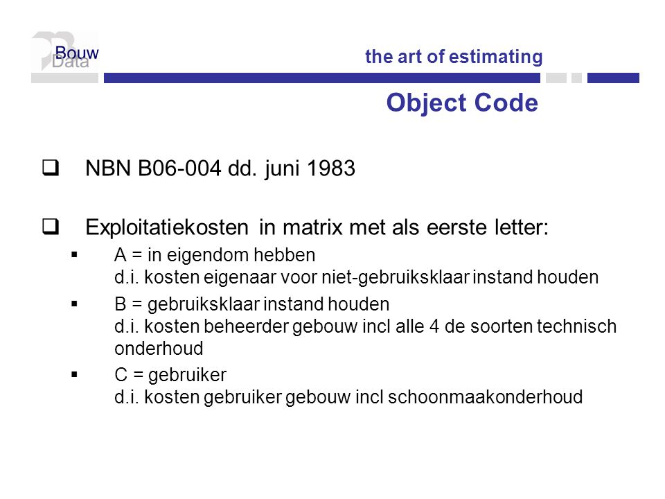 Object Code NBN B06-004 dd. juni 1983