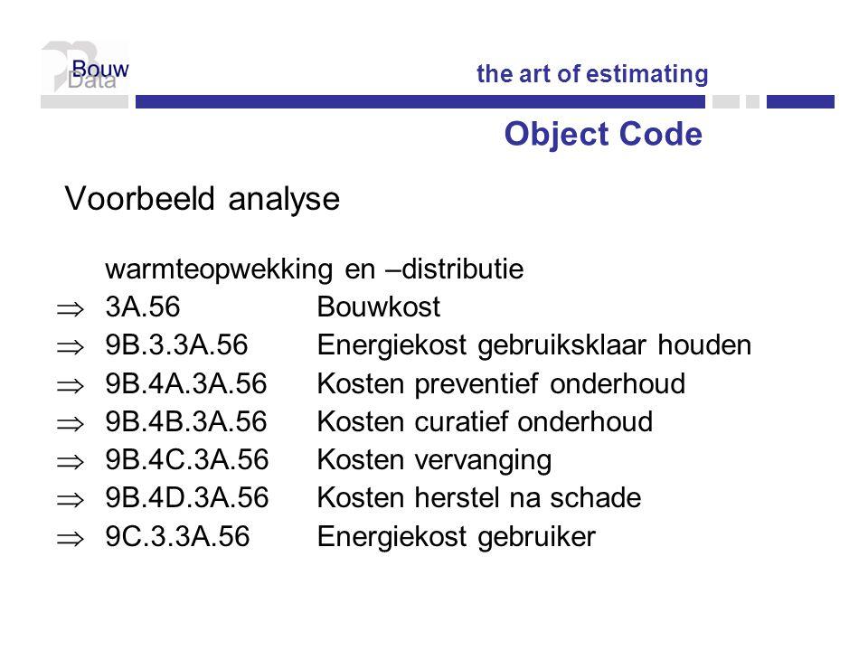 Object Code Voorbeeld analyse warmteopwekking en –distributie