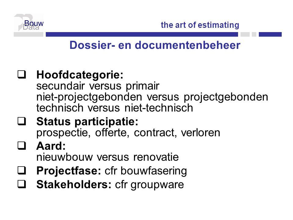 Dossier- en documentenbeheer