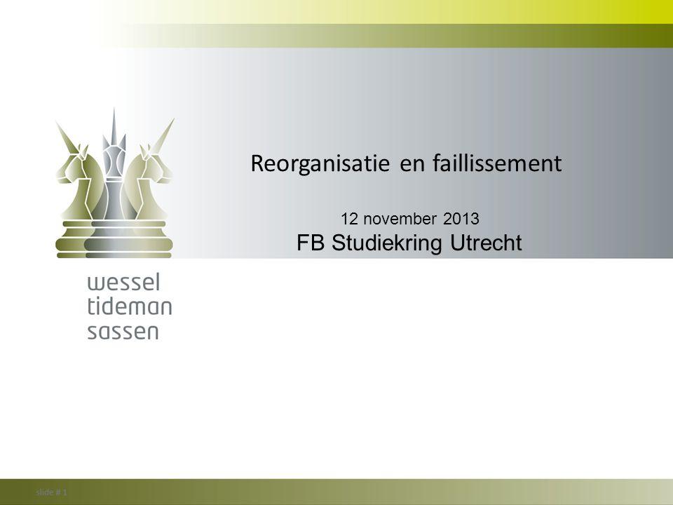 Reorganisatie en faillissement