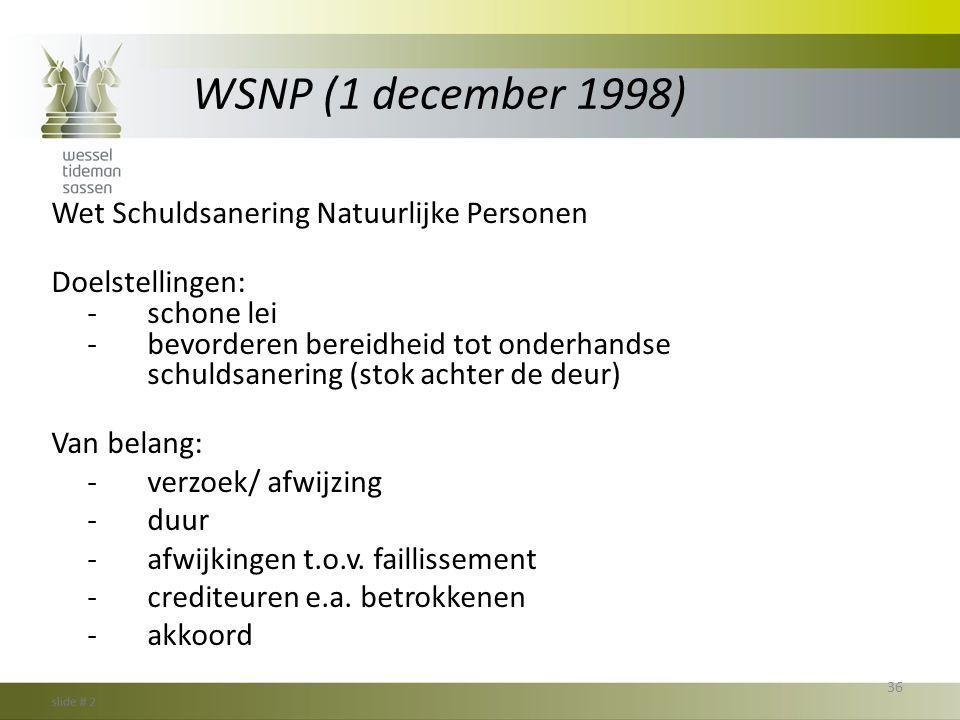 WSNP (1 december 1998)