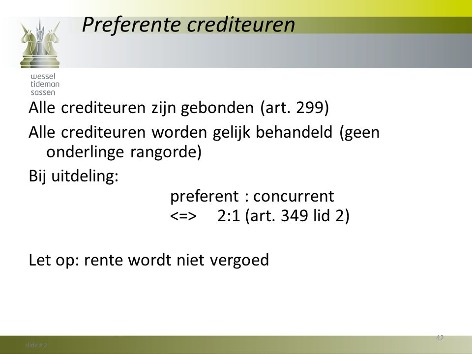 Preferente crediteuren