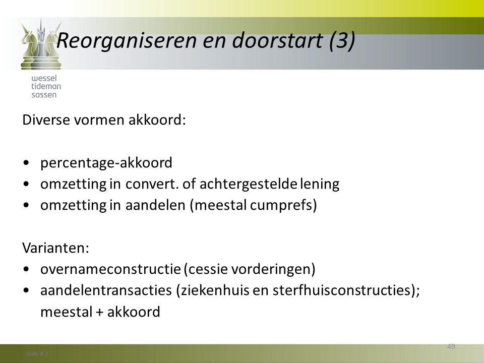 Reorganiseren en doorstart (3)