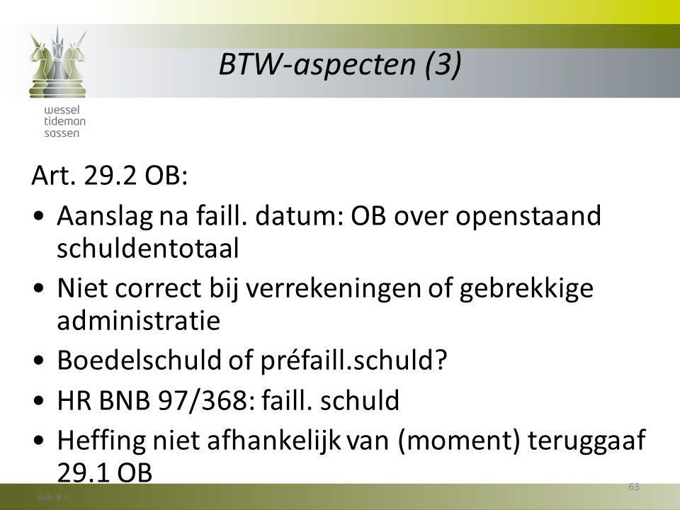 BTW-aspecten (3) Art. 29.2 OB: