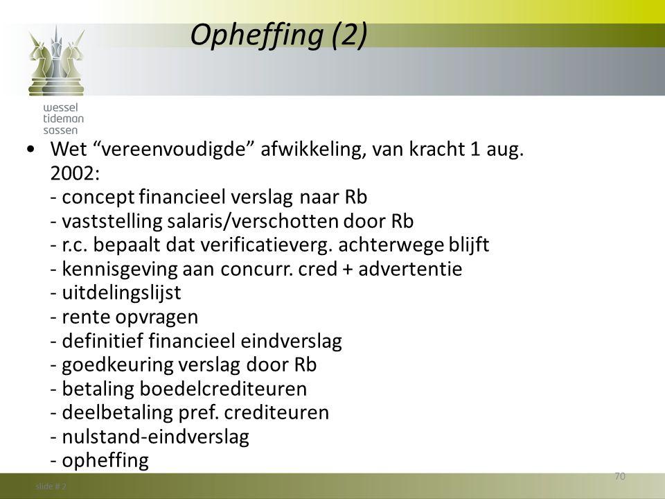 Opheffing (2)