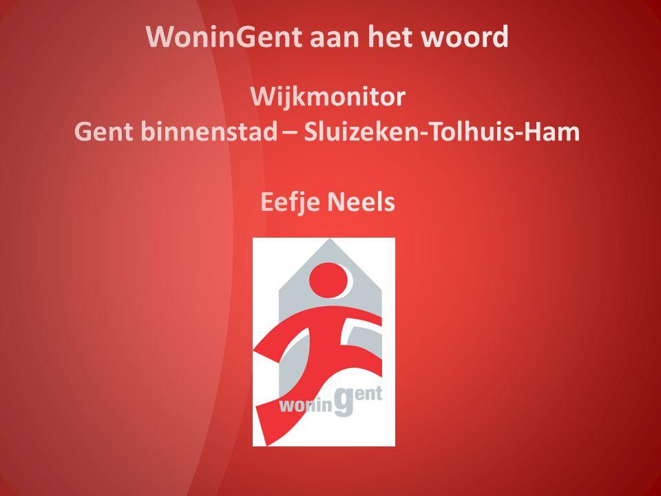 WoninGent aan het woord Wijkmonitor Gent binnenstad – Sluizeken-Tolhuis-Ham Eefje Neels