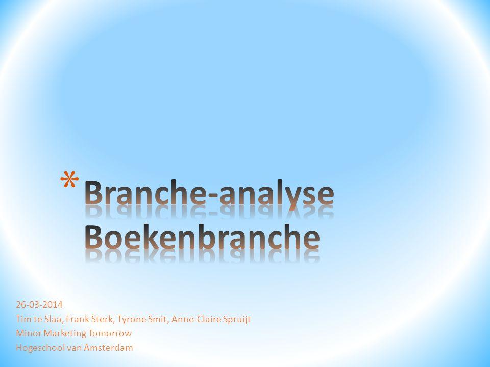 Branche-analyse Boekenbranche