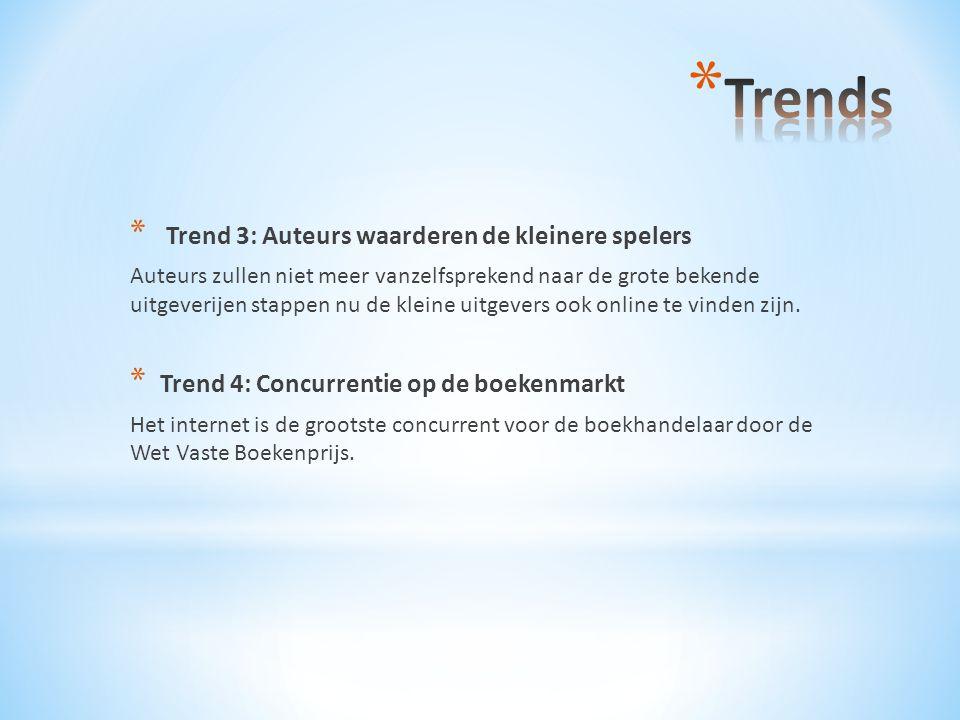 Trends Trend 3: Auteurs waarderen de kleinere spelers
