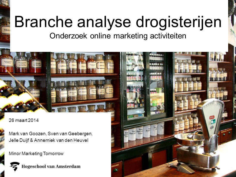 Branche analyse drogisterijen Onderzoek online marketing activiteiten