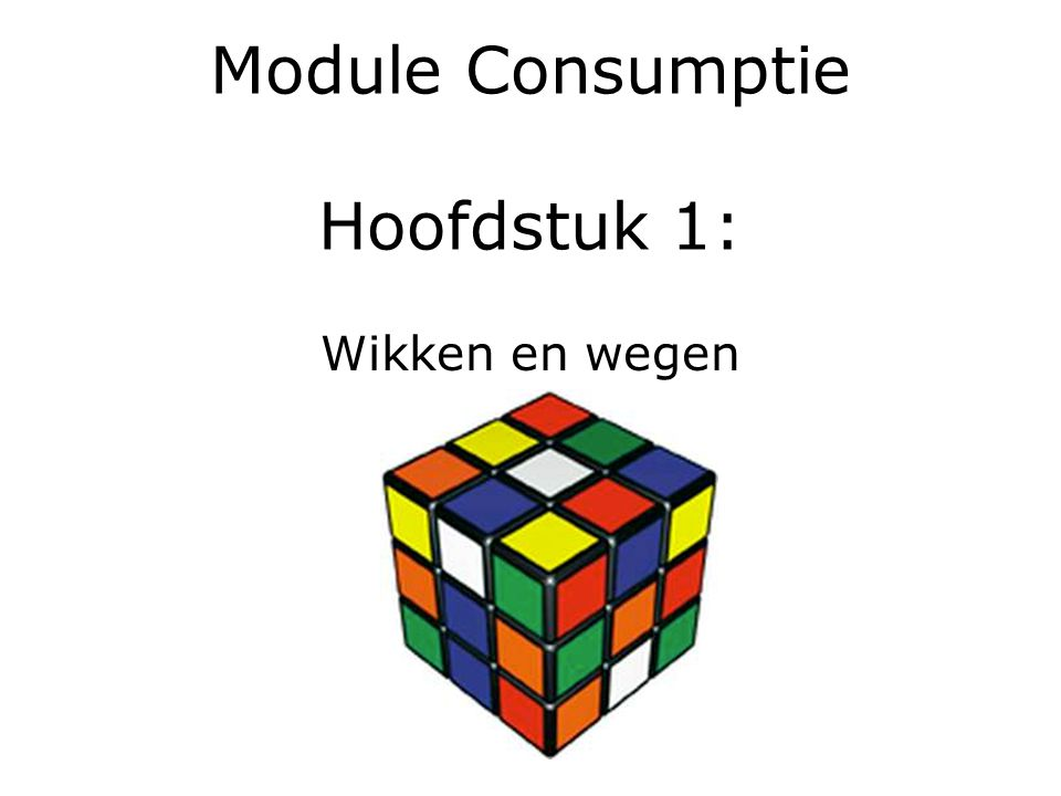 Module Consumptie Hoofdstuk 1: