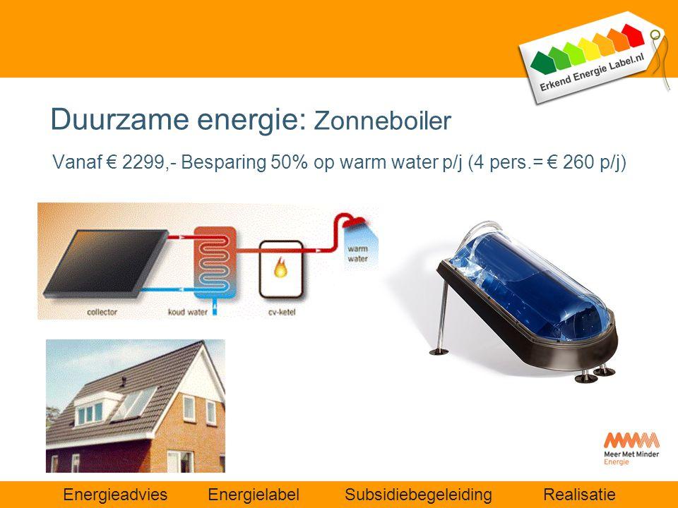 Duurzame energie: Zonneboiler