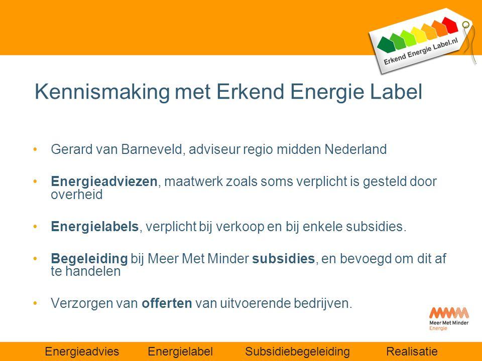 Kennismaking met Erkend Energie Label