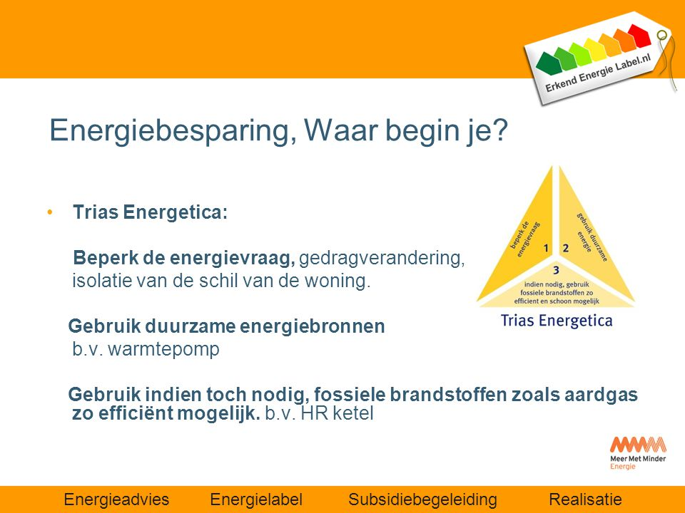 Energiebesparing, Waar begin je