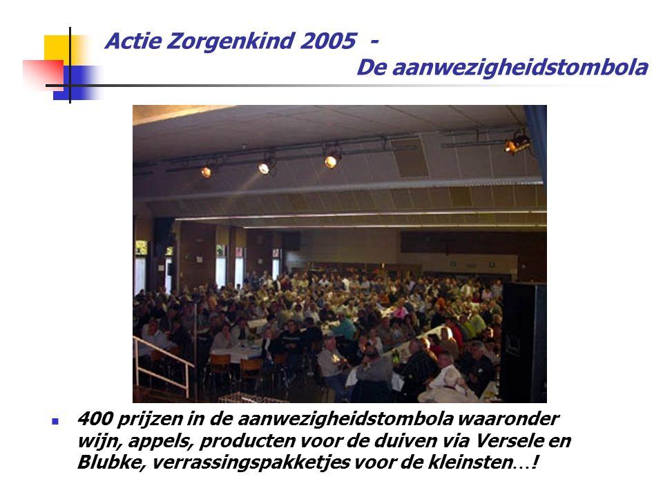 Actie Zorgenkind 2005 - De aanwezigheidstombola