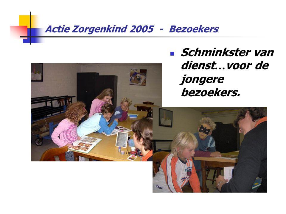 Actie Zorgenkind 2005 - Bezoekers