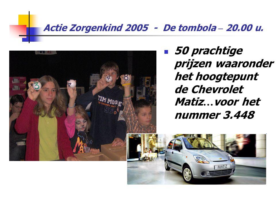 Actie Zorgenkind 2005 - De tombola – 20.00 u.