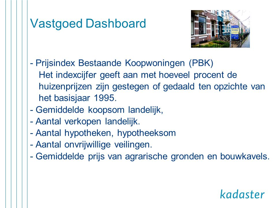 Vastgoed Dashboard - Prijsindex Bestaande Koopwoningen (PBK)