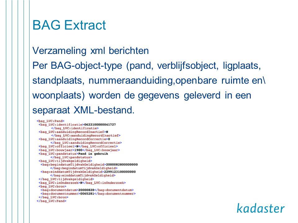 BAG Extract Verzameling xml berichten
