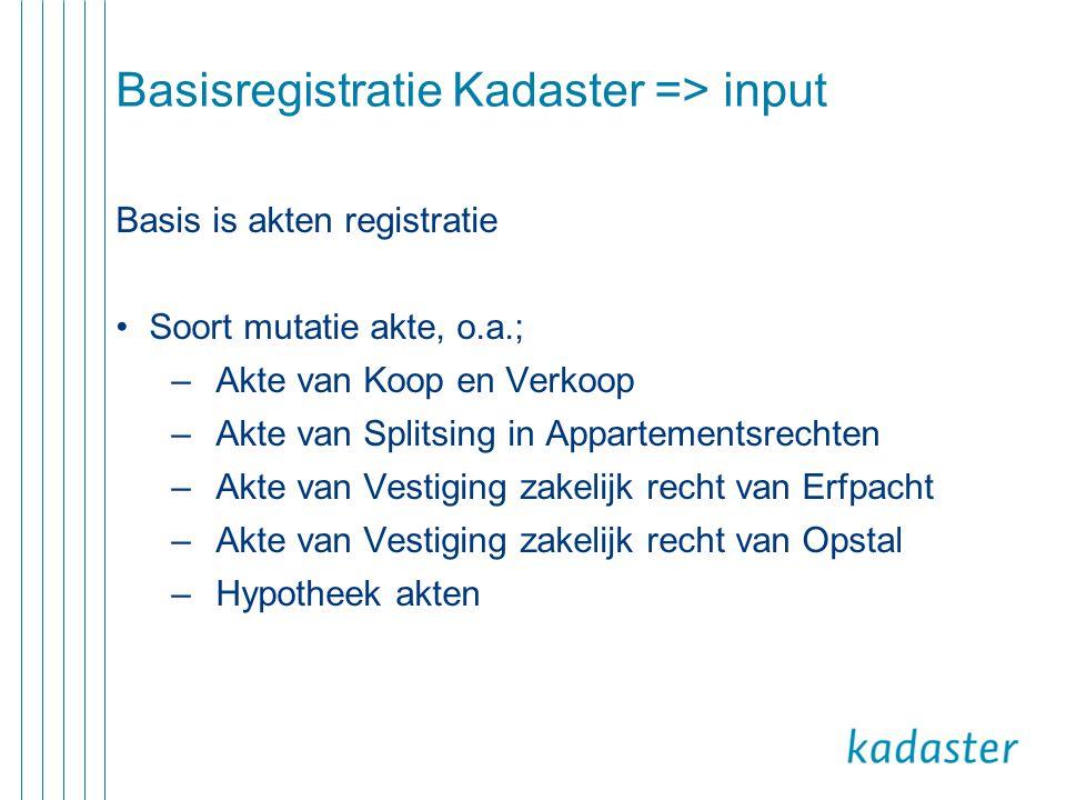 Basisregistratie Kadaster => input