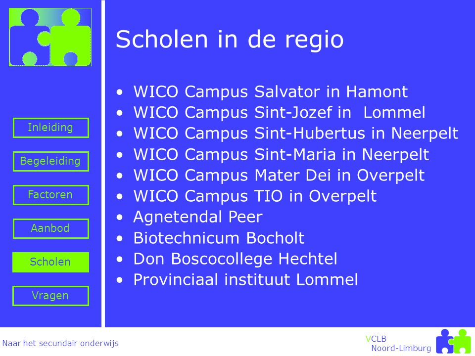 Scholen in de regio WICO Campus Salvator in Hamont
